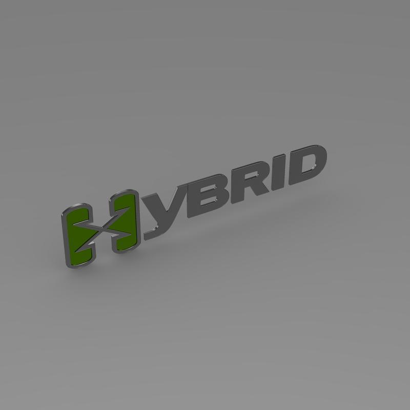 hibrid loqosu 3d modeli 3ds max fbx c4d lwo ma mb hrc xsi obj 151495