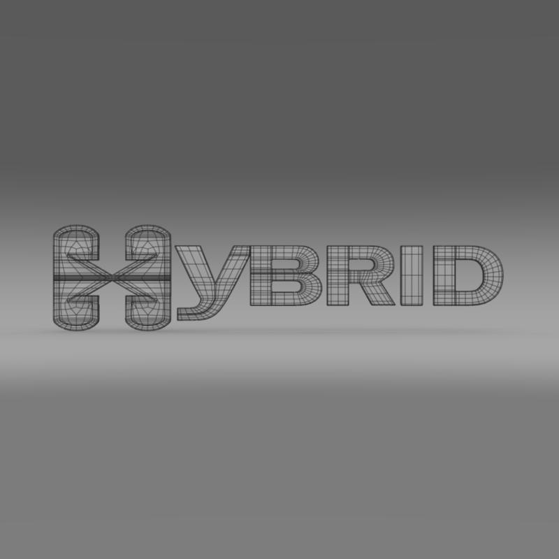 hibrid loqosu 3d modeli 3ds max fbx c4d lwo ma mb hrc xsi obj 151496