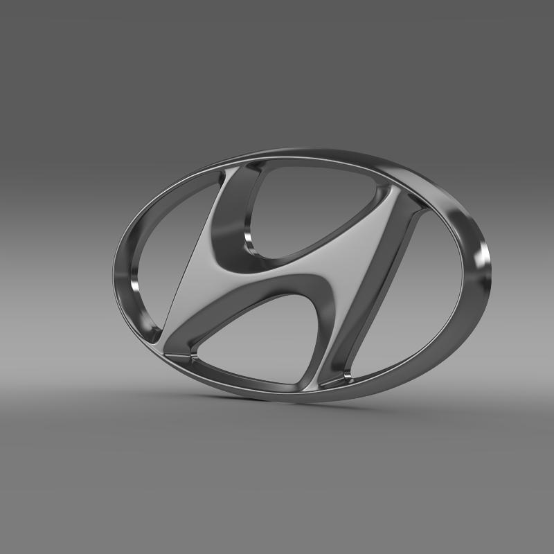 hyundai logo v1 3d model 3ds maks.