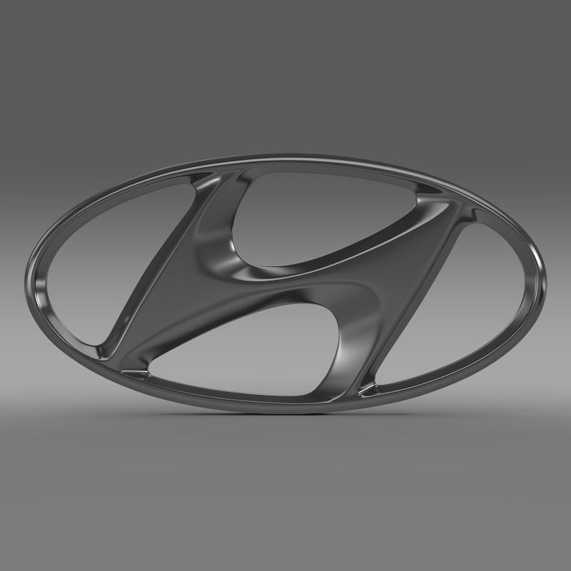 hyundai logo v1 3d model 3ds max fbx c4d lwo ma mb hrc xsi obj 117259