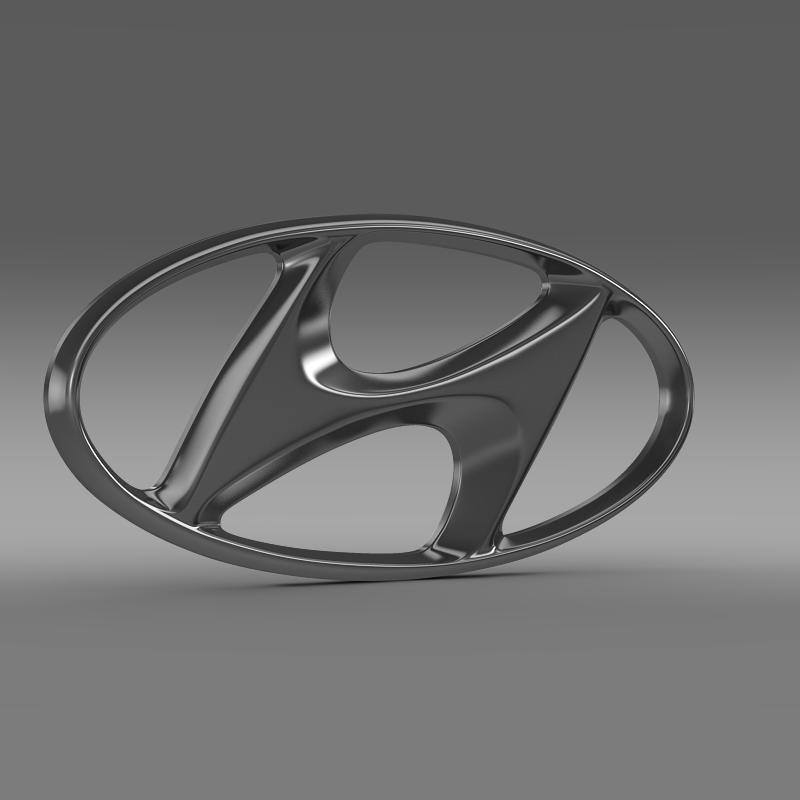 hyundai logo v1 3d model 3ds max fbx c4d lwo ma mb hrc xsi obj 117260