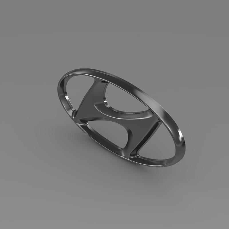 hyundai logo v1 3d model 3ds max fbx c4d lwo ma mb hrc xsi obj 117261
