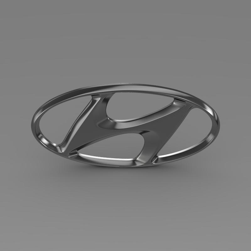 hyundai logo v1 3d model 3ds max fbx c4d lwo ma mb hrc xsi obj 117262