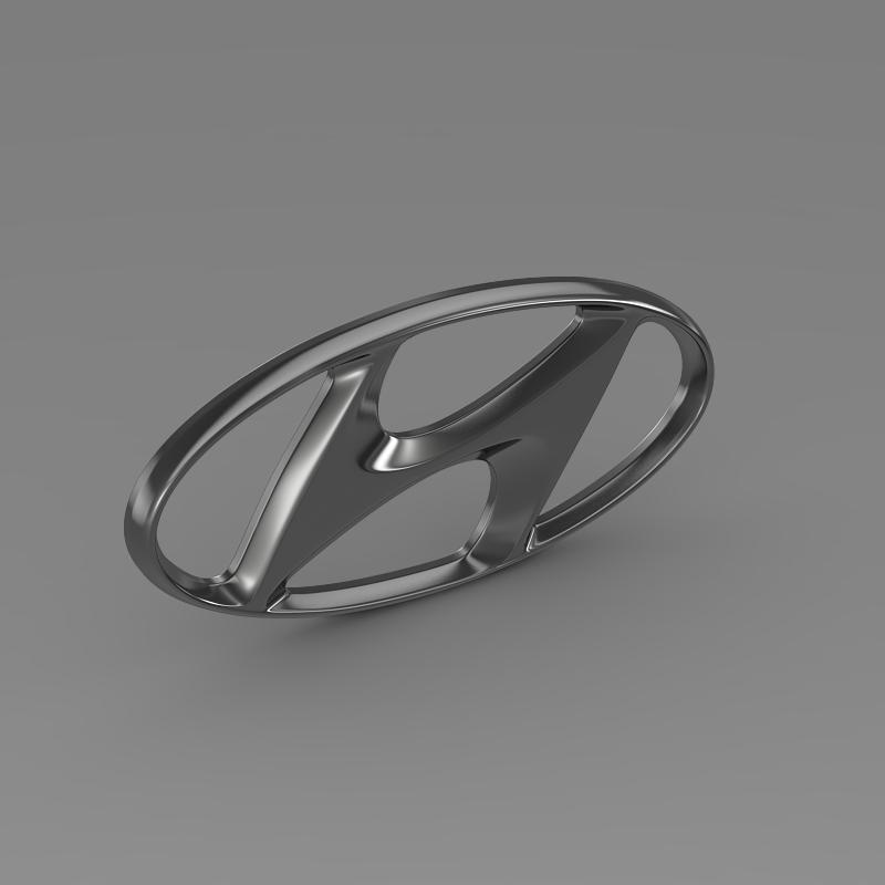 hyundai logo v1 3d model 3ds max fbx c4d lwo ma mb hrc xsi obj 117263