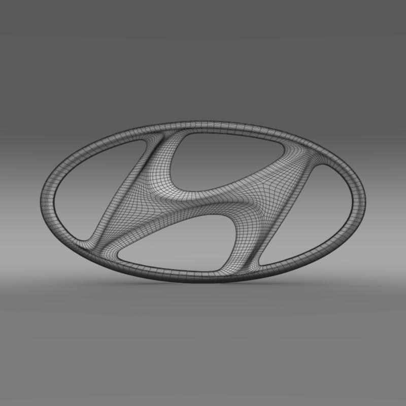 hyundai logo v1 3d model 3ds max fbx c4d lwo ma mb hrc xsi obj 117264