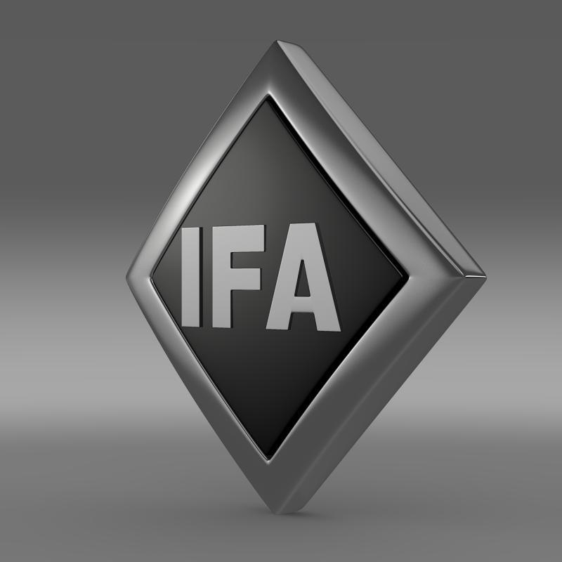 ifa logo 3d model 3ds max fbx c4d lwo ma mb hrc xsi obj 117559