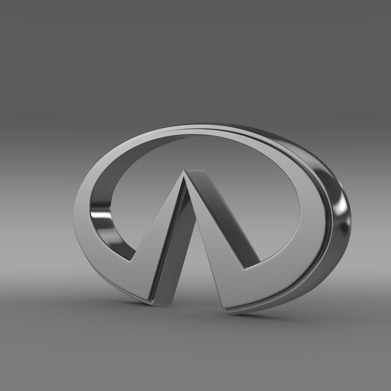 infiniti logo 2 3d model 3ds max fbx c4d lwo ma mb hrc xsi obj 117265