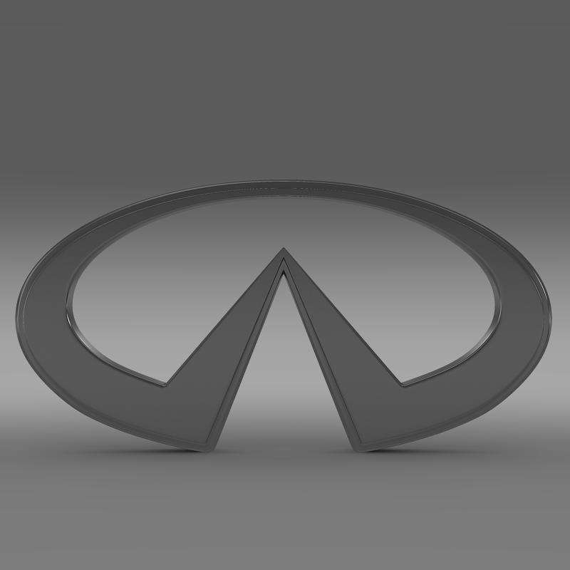 infiniti logo 2 3d model 3ds max fbx c4d lwo ma mb hrc xsi obj 117266