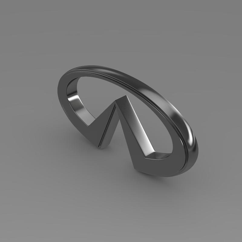 infiniti logo 2 3d model 3ds max fbx c4d lwo ma mb hrc xsi obj 117268