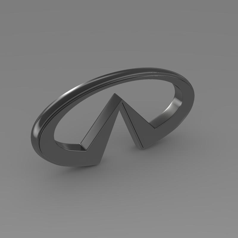 infiniti logo 2 3d model 3ds max fbx c4d lwo ma mb hrc xsi obj 117270