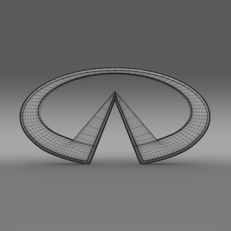 infiniti logo 2 3d model 3ds max fbx c4d lwo ma mb hrc xsi obj 117271