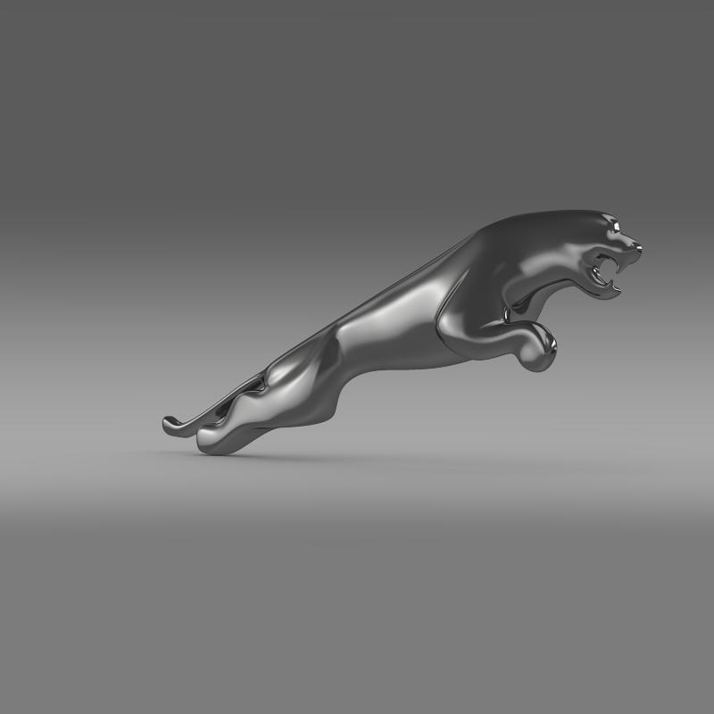 jaguar logo 3d model 3ds max fbx c4d lwo ma mb hrc xsi obj 119186