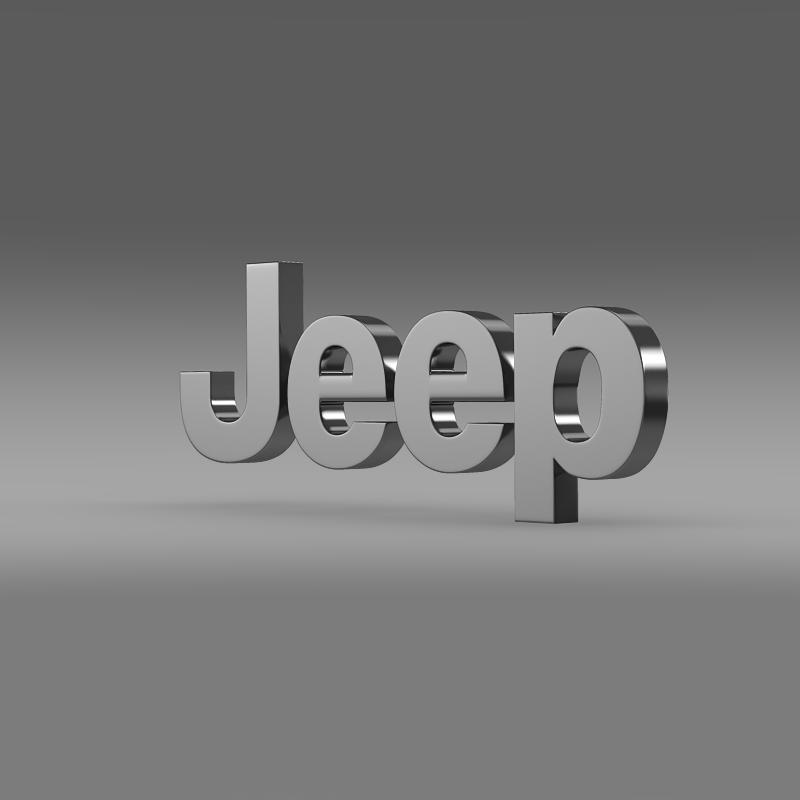 jeep logo 3d model 3ds max fbx c4d lwo ma mb hrc xsi obj 117272