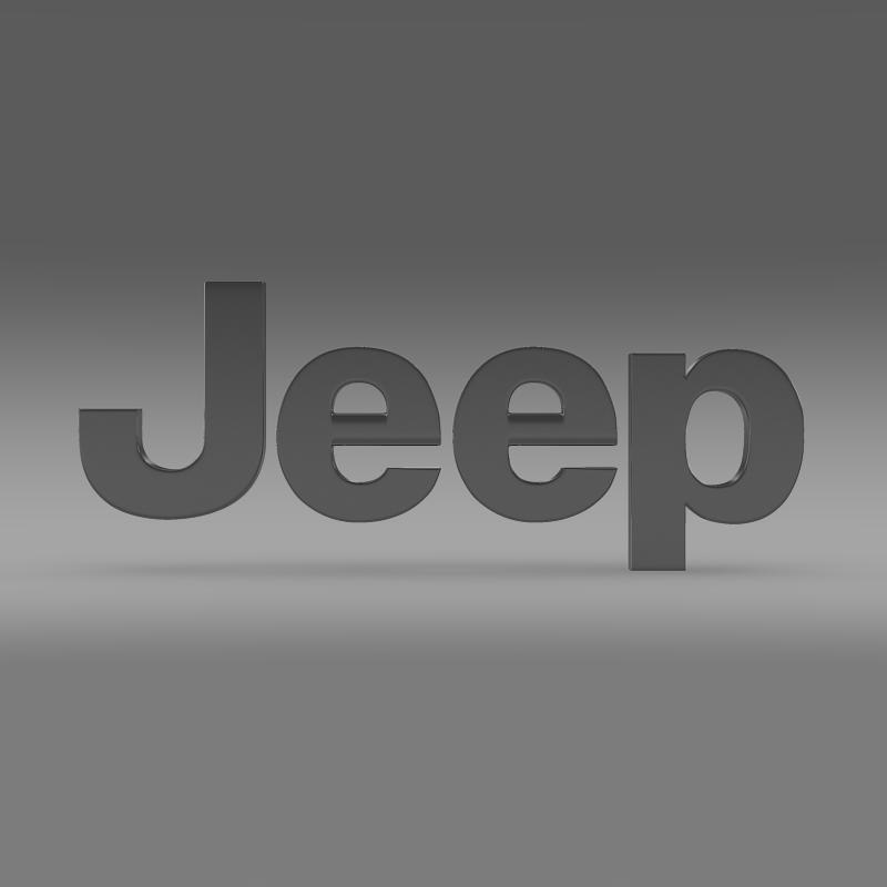jeep logo 3d model 3ds max fbx c4d lwo ma mb hrc xsi obj 117273