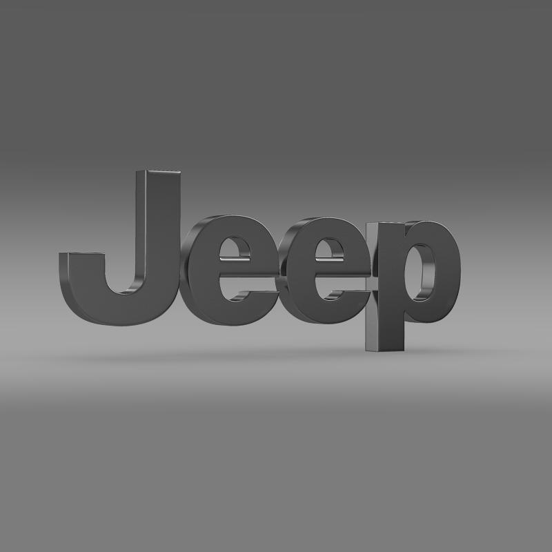 jeep logo 3d model 3ds max fbx c4d lwo ma mb hrc xsi obj 117274