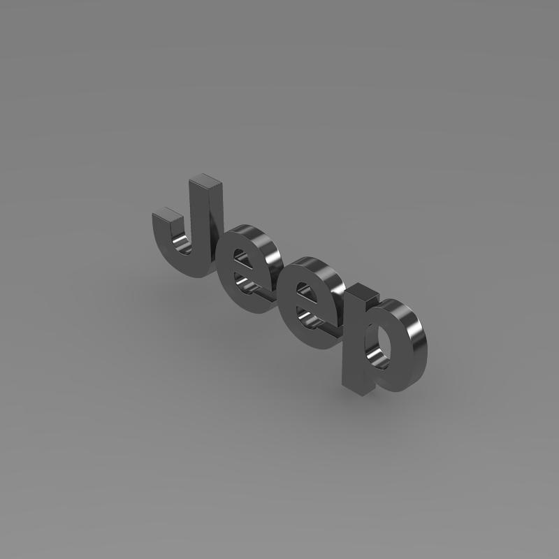 jeep logo 3d model 3ds max fbx c4d lwo ma mb hrc xsi obj 117275