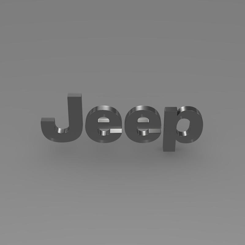 jeep logo 3d model 3ds max fbx c4d lwo ma mb hrc xsi obj 117276