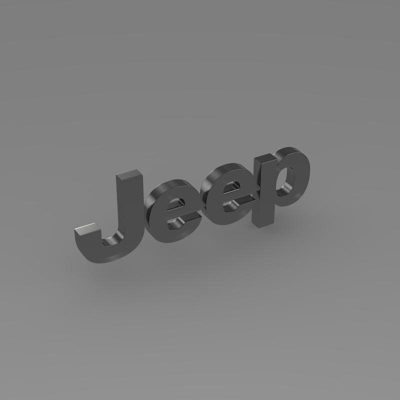 jeep logo 3d model 3ds max fbx c4d lwo ma mb hrc xsi obj 117277