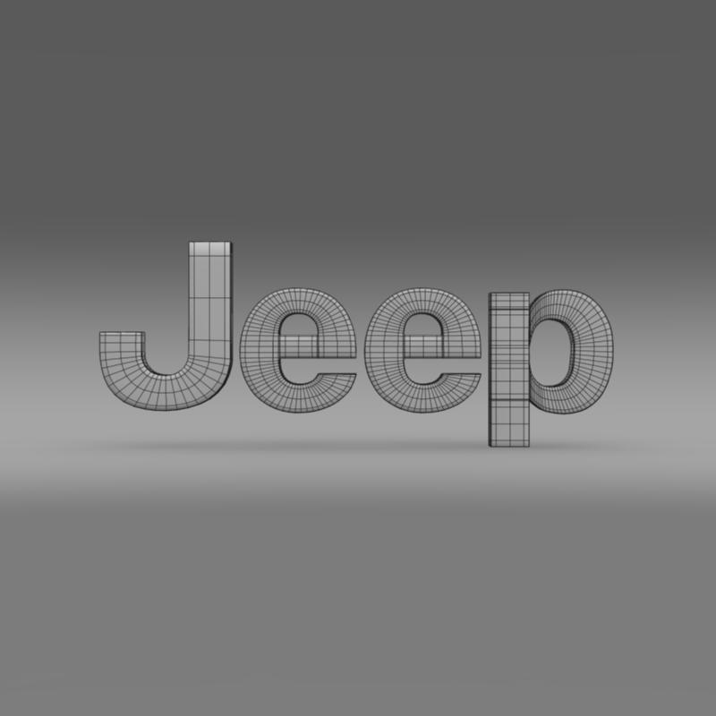 jeep logo 3d model 3ds max fbx c4d lwo ma mb hrc xsi obj 117278