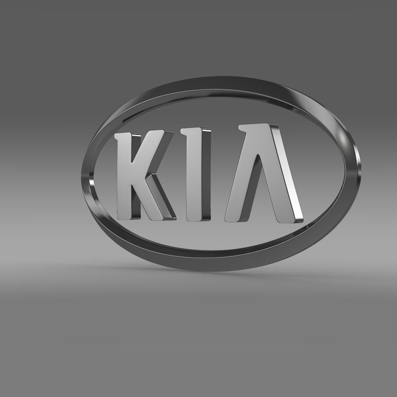 kia logo 3d model 3ds max fbx c4d lwo ma mb hrc xsi obj 117279