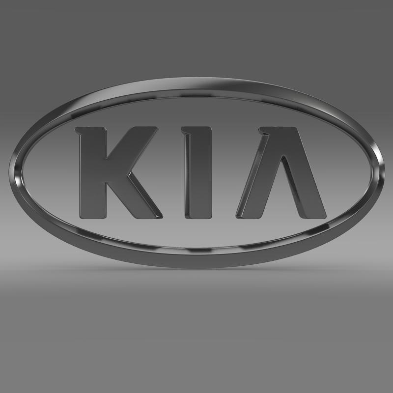 kia logo 3d model 3ds max fbx c4d lwo ma mb hrc xsi obj 117280