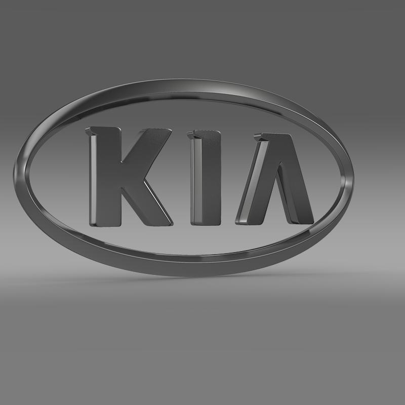 kia logo 3d model 3ds max fbx c4d lwo ma mb hrc xsi obj 117281