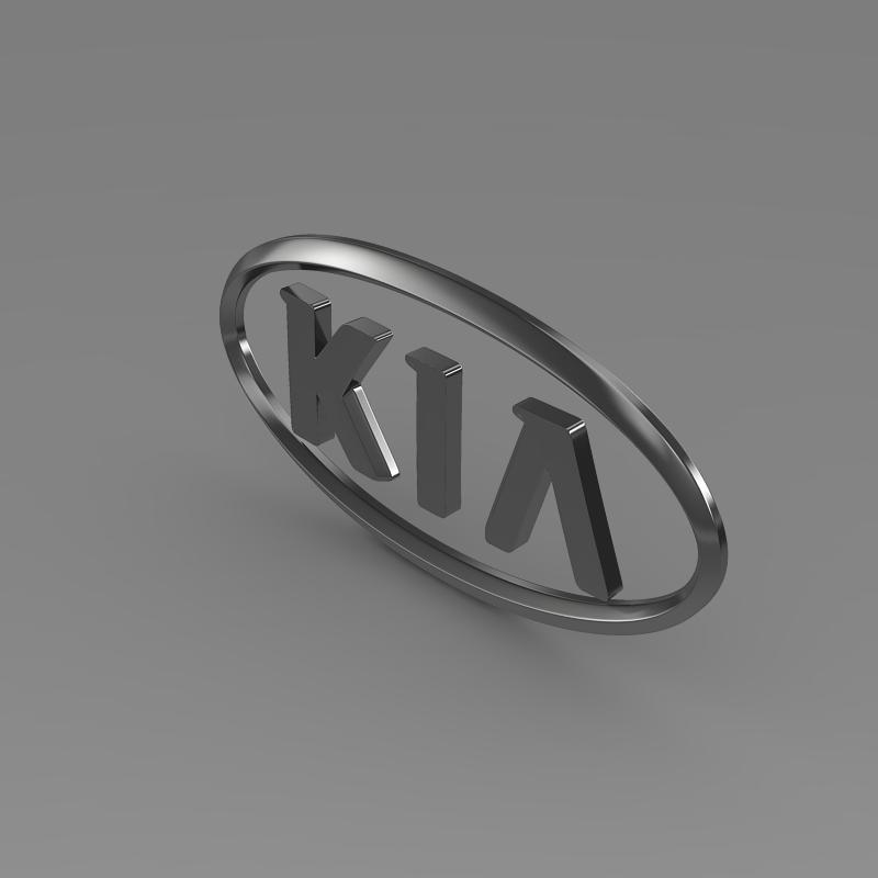 kia logo 3d model 3ds max fbx c4d lwo ma mb hrc xsi obj 117282