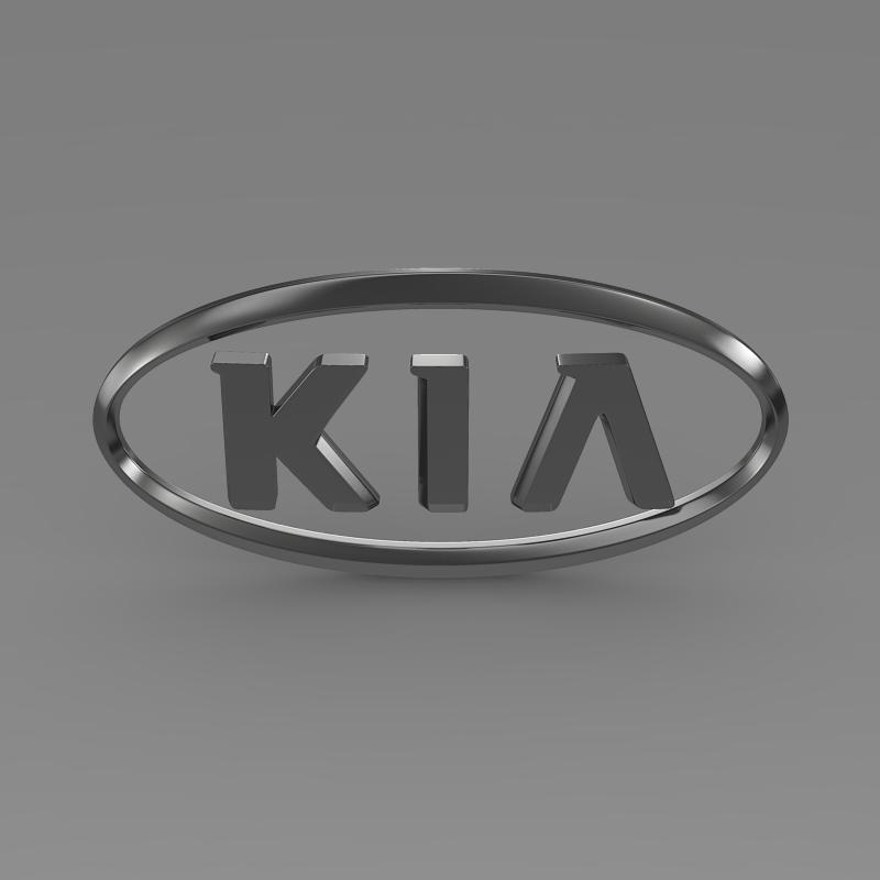 kia logo 3d model 3ds max fbx c4d lwo ma mb hrc xsi obj 117283