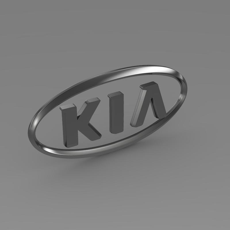 kia logo 3d model 3ds max fbx c4d lwo ma mb hrc xsi obj 117284