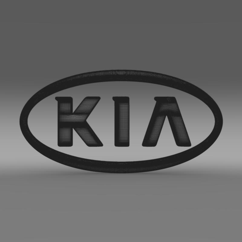 kia logo 3d model 3ds max fbx c4d lwo ma mb hrc xsi obj 117285