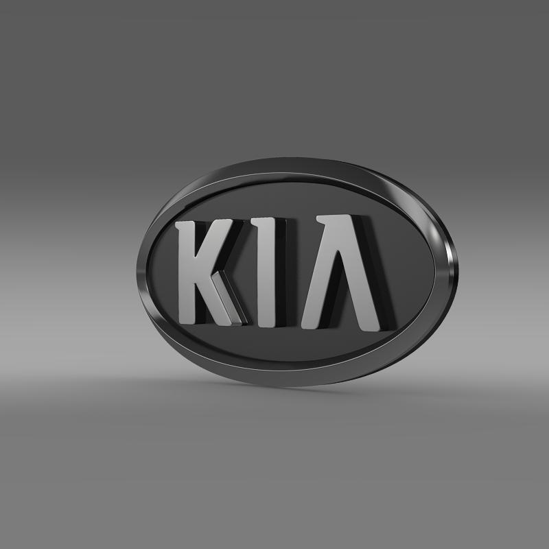 kia motors logo 3d model 3ds max fbx c4d lwo ma mb hrc xsi obj 151497