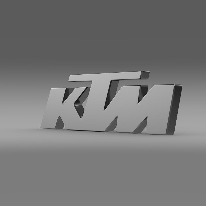 ktm logo 3d model 3ds max fbx c4d lwo ma mb hrc xsi obj 117576