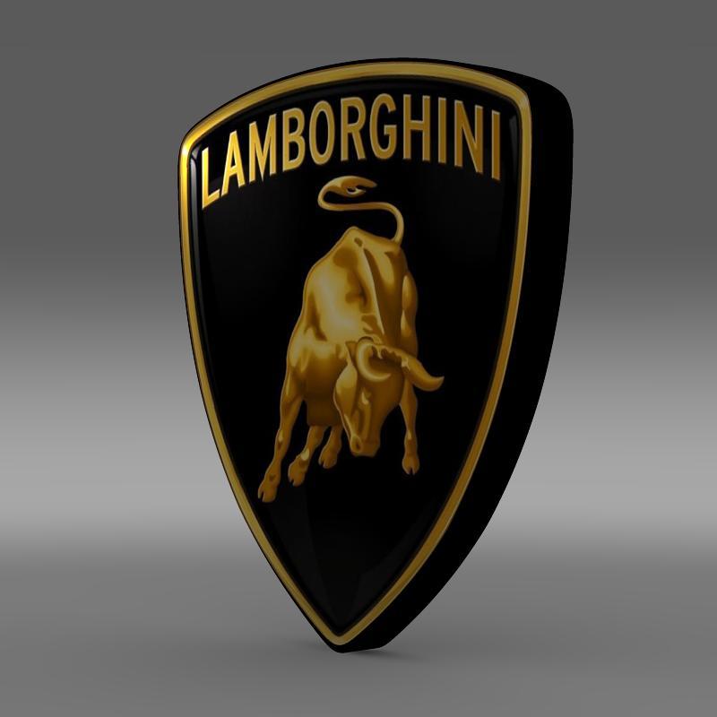 Lamborghini Logo 3d model 3ds max fbx c4d lwo lws lw ma mb  obj 118079