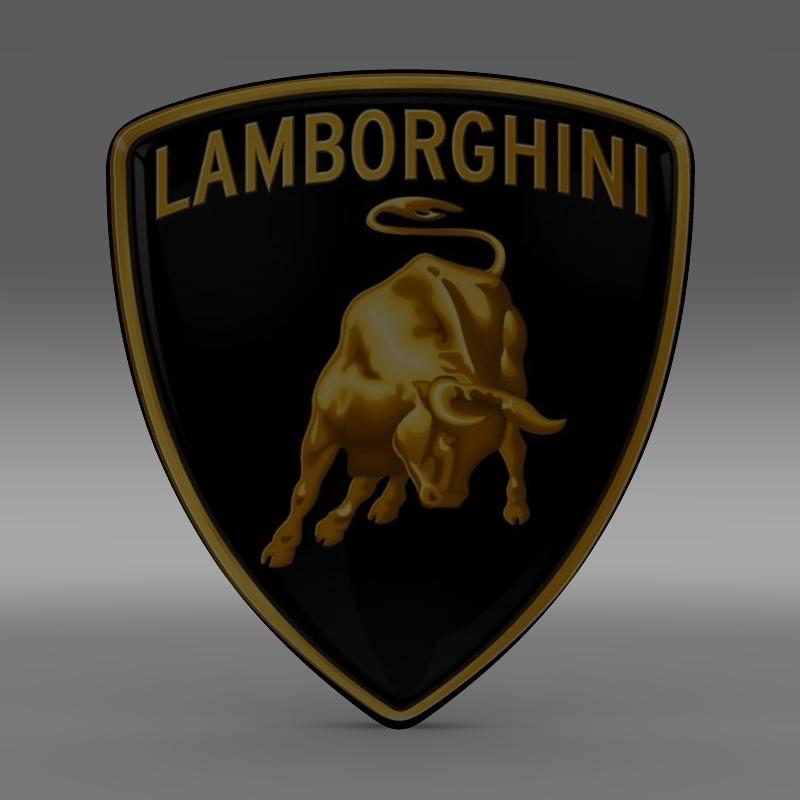 lamborghini logo 3d model flatpyramid