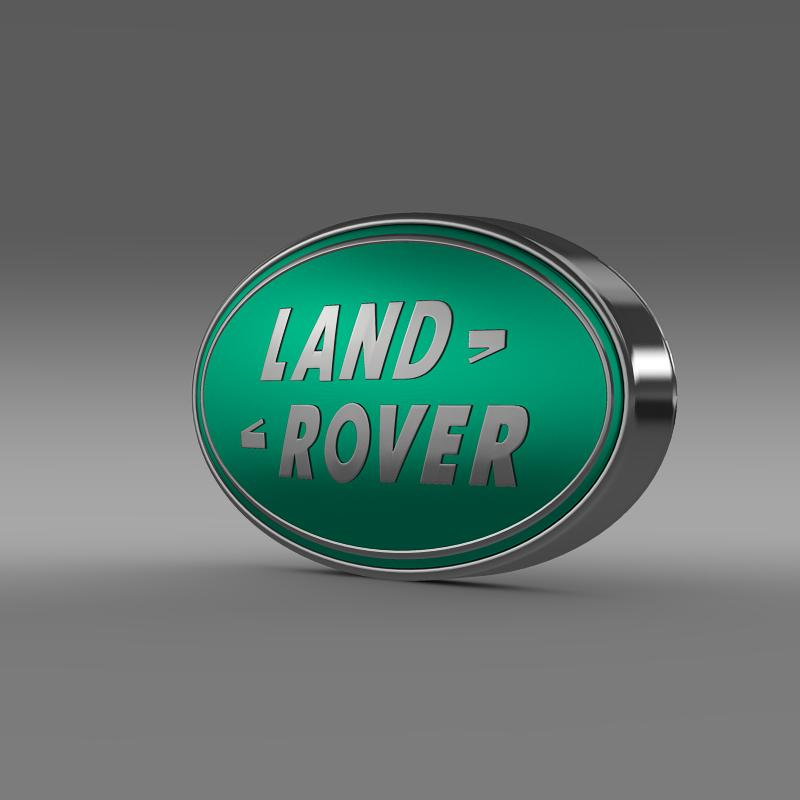 land rover logotip 3d model 3ds max fbx c4d