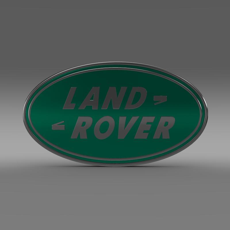 land rover logo 3d model 3ds max fbx c4d lwo ma mb hrc xsi obj 118092