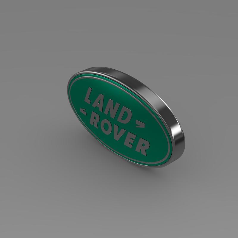 land rover logo 3d model 3ds max fbx c4d lwo ma mb hrc xsi obj 118094