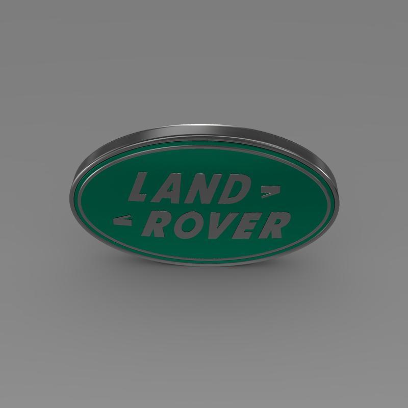 land rover logo 3d model 3ds max fbx c4d lwo ma mb hrc xsi obj 118095