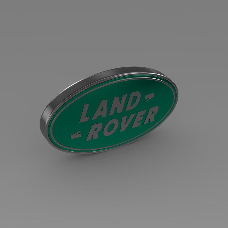 land rover logo 3d model 3ds max fbx c4d lwo ma mb hrc xsi obj 118096