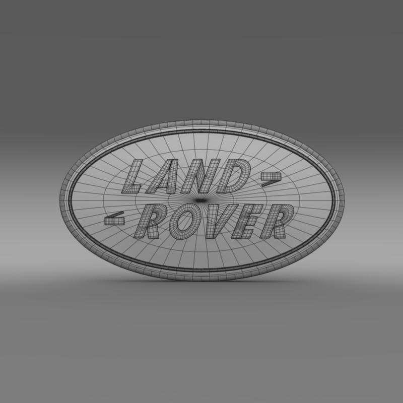 land rover logo 3d model 3ds max fbx c4d lwo ma mb hrc xsi obj 118097