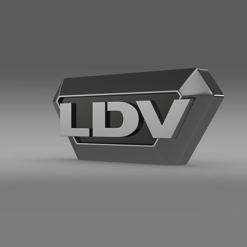 ldv logo 3d model 3ds max fbx c4d lwo ma mb hrc xsi obj 118098