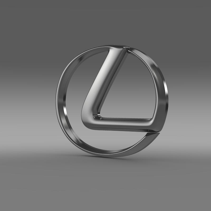 lexus logo 3d model 3ds maks.