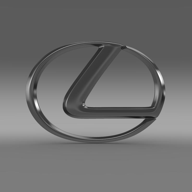 lexus logo 3d model 3ds max fbx c4d lwo ma mb hrc xsi obj 117287