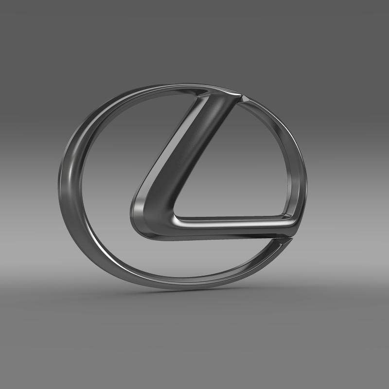 lexus logo 3d model 3ds max fbx c4d lwo ma mb hrc xsi obj 117288