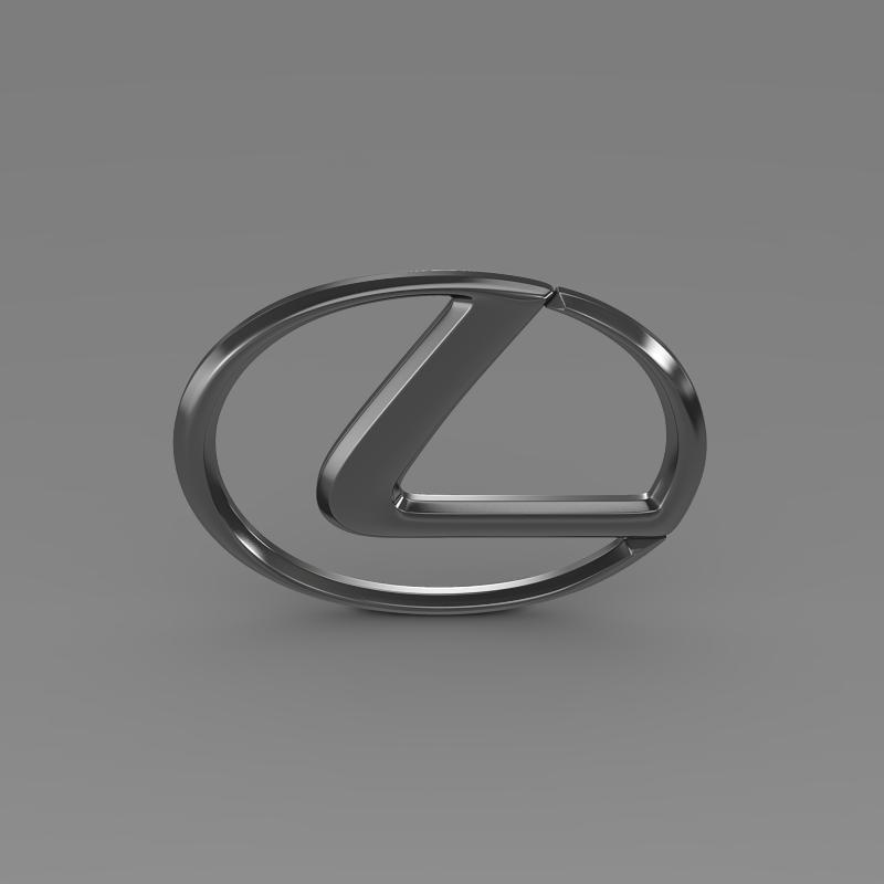 lexus logo 3d model 3ds max fbx c4d lwo ma mb hrc xsi obj 117290
