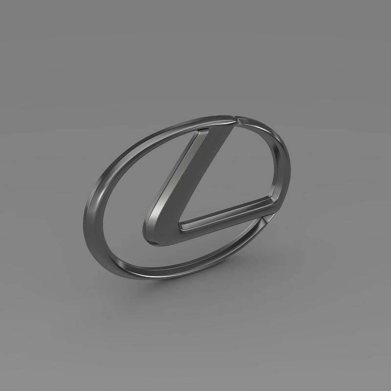 lexus logo 3d model 3ds max fbx c4d lwo ma mb hrc xsi obj 117291