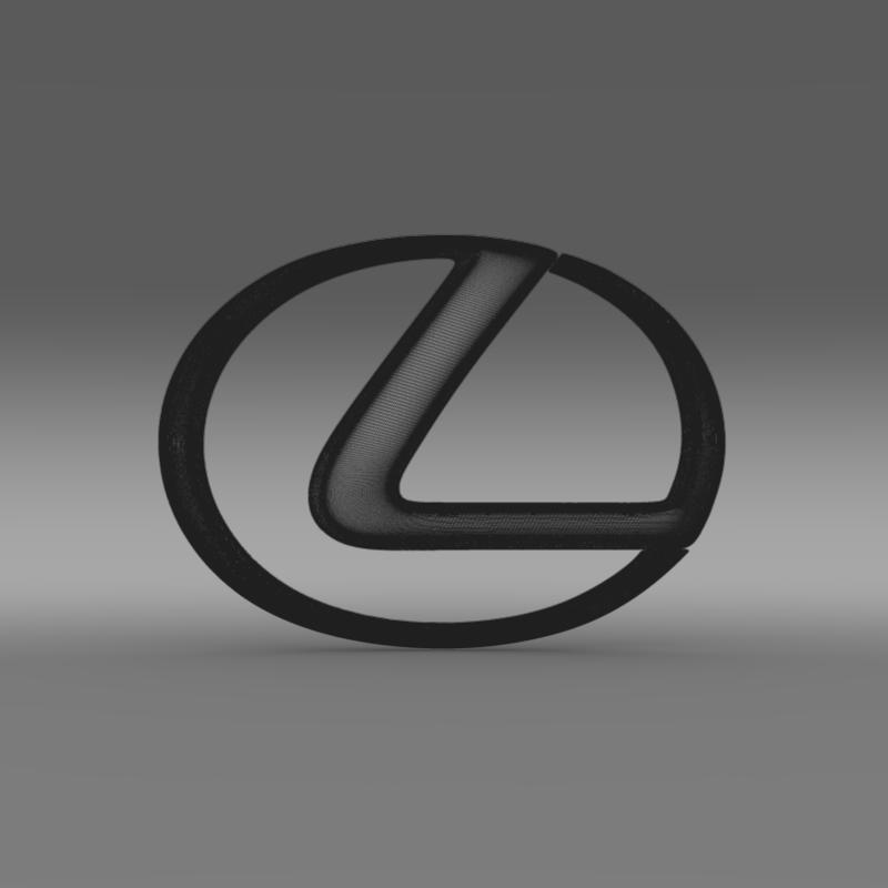 lexus logo 3d model 3ds max fbx c4d lwo ma mb hrc xsi obj 117292
