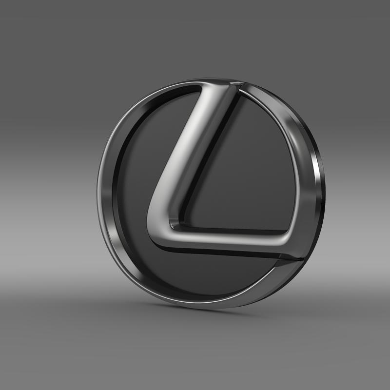 lexus motors logo 3d model 3ds max fbx c4d lwo ma mb hrc xsi obj 151504