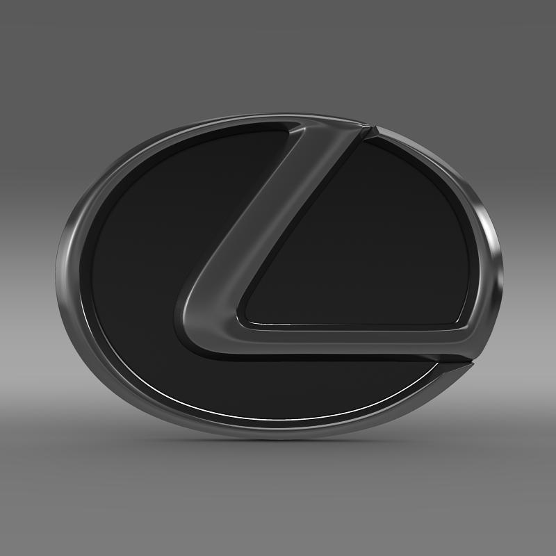 lexus motors logo 3d model 3ds max fbx c4d lwo ma mb hrc xsi obj 151505