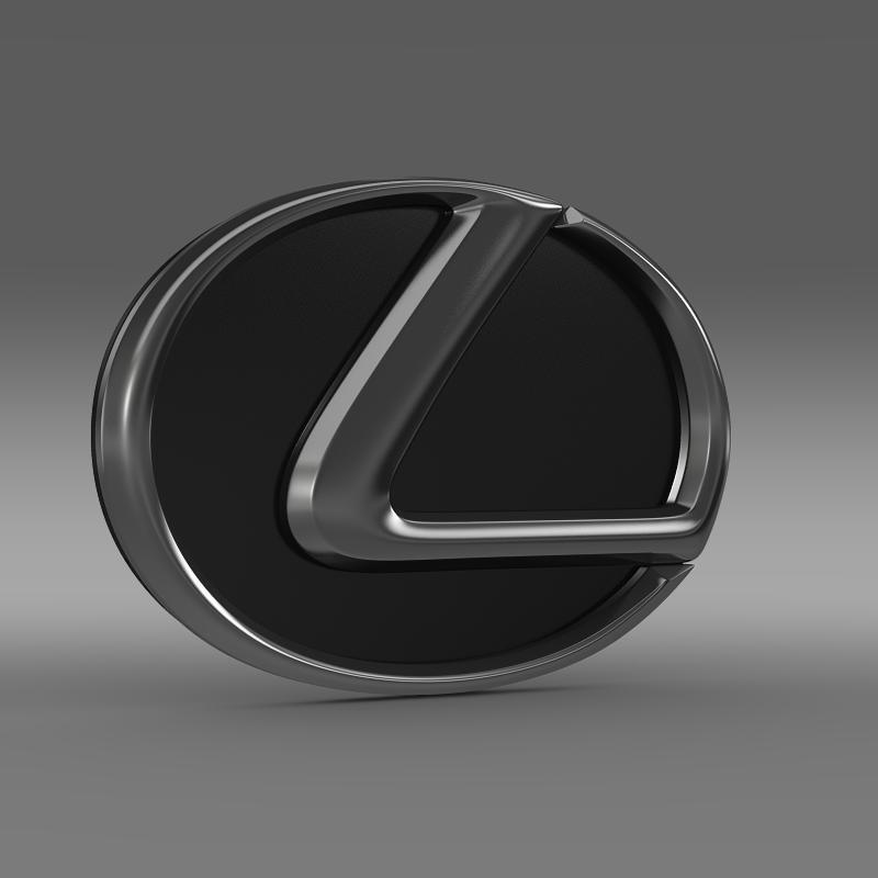 lexus motors logo 3d model 3ds max fbx c4d lwo ma mb hrc xsi obj 151506